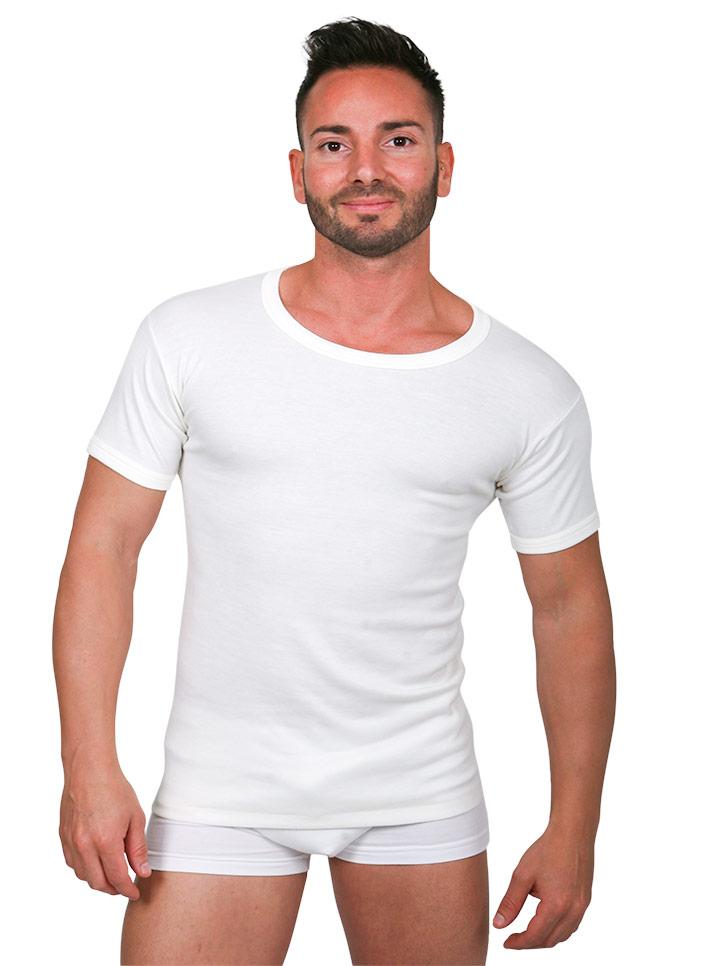 Maglietta intima uomo lana cotone - art. 350