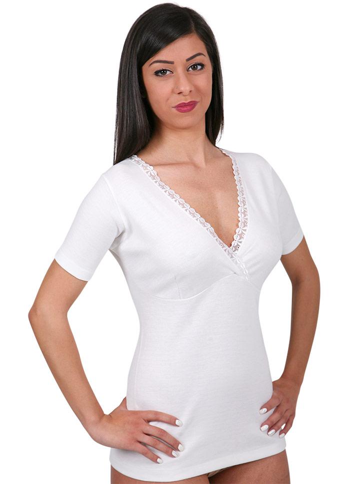 Maglietta intima lana cotone forma seno - art. 399