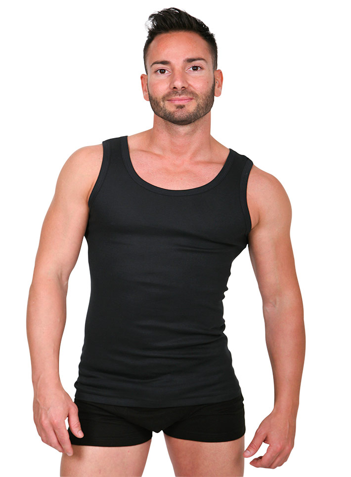 Canottiera uomo intima cotone spalla larga